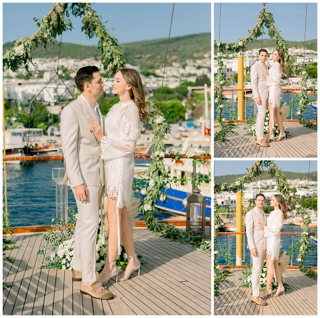carlataylan bodrumweddings 1 1024x1019 - Carla & Taylan // Yatch Wedding in Bodrum