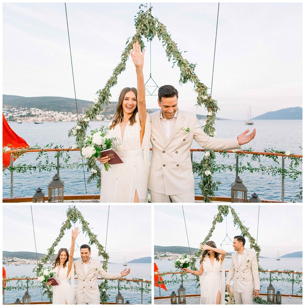 carlataylan bodrumweddings 95 1018x1024 - Carla & Taylan // Yatch Wedding in Bodrum